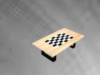 3d table chess grid