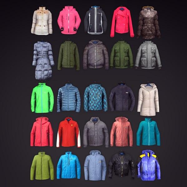 men jackets 25 3d model