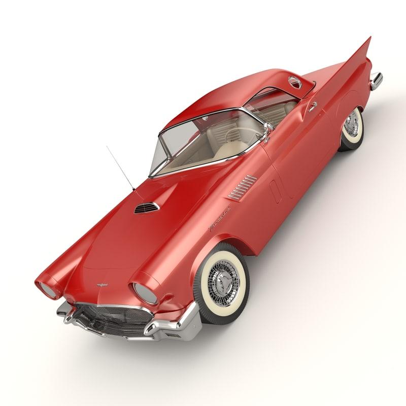 3d obj thunderbird 1957