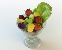 51 fruit salad cup 3d max