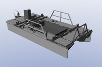 3d model work boat catamaran