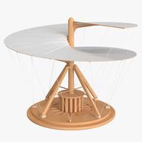 3d model leonardo da vinci aerial