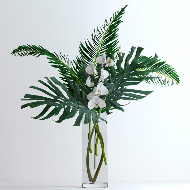 3d fresh flowers model