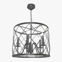 loft lattice chandelier 3d max