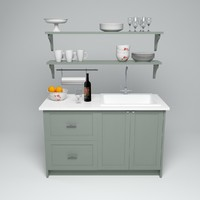 3d model kitchen sink