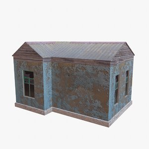 3d model abandoned house