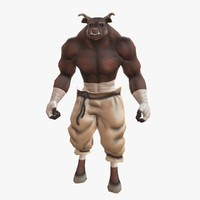 Rigged and Animated Minotaur
