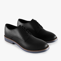 3d black leather shoes