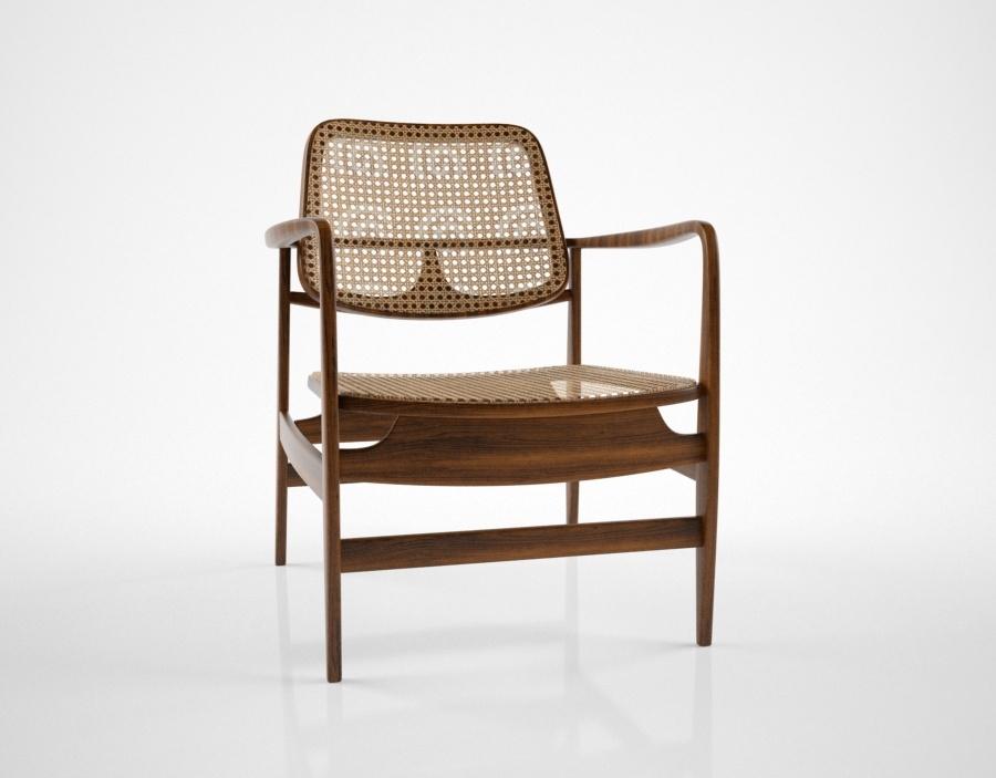 3d sergio rodrigues vintageoscar chair
