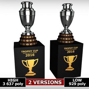 3d copa america cup trophy model