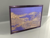 3d framed tapestry ivory artwork