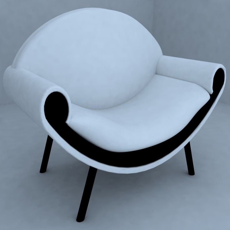 seat living room 3d max
