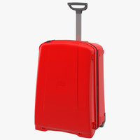 3d model suitcase red generic