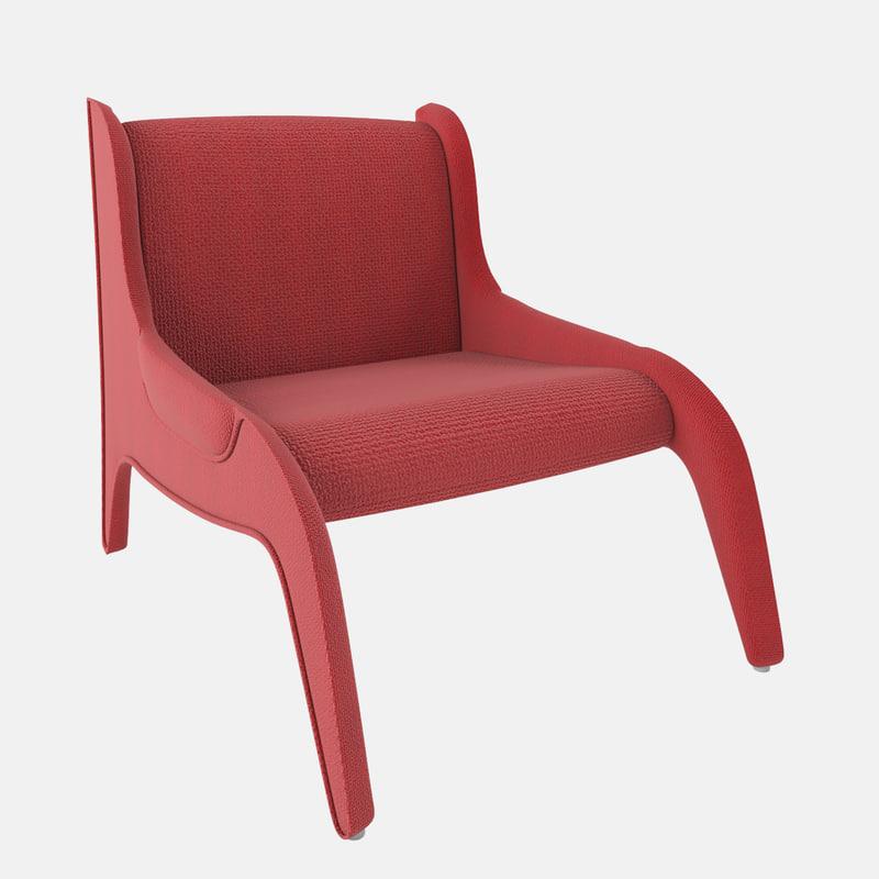 3d cassina antropus chair model