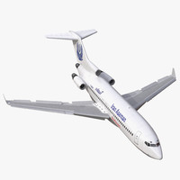 Boeing 727-100 Private Iran Aseman Airlines Rigged 3D Model