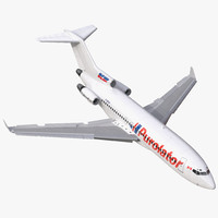 Boeing 727-100 Private Kelowna Rigged 3D Model