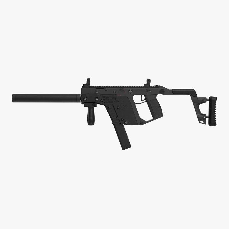 submachine gun kriss vector 3d model