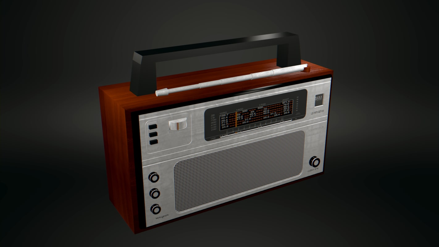 3d model of old russian radio