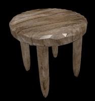 3d wooden stool