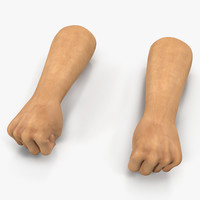 3d man hands 2 pose model