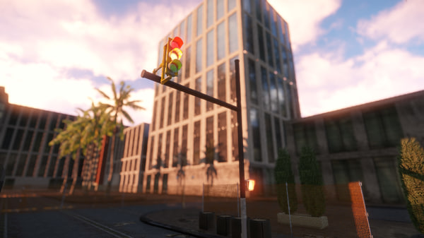 free traffic light 3d model