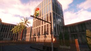 free traffic light 3d model