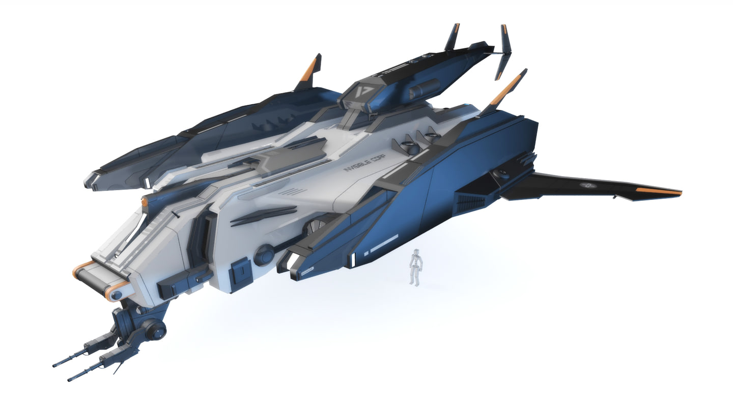 sci-fi - aircraft iron 3d model