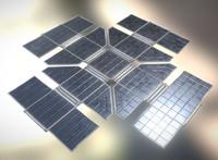 3d solar power module model