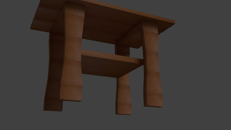 3d adirondack end table model