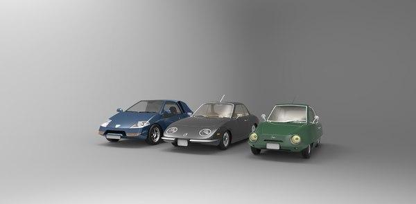 3d 3 cars model