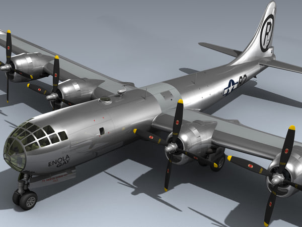 b-29 superfortress enola gay 3d model