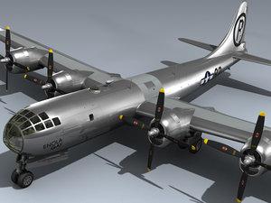 b-29 superfortress enola gay 3d model
