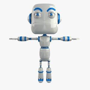3d robot modelled model