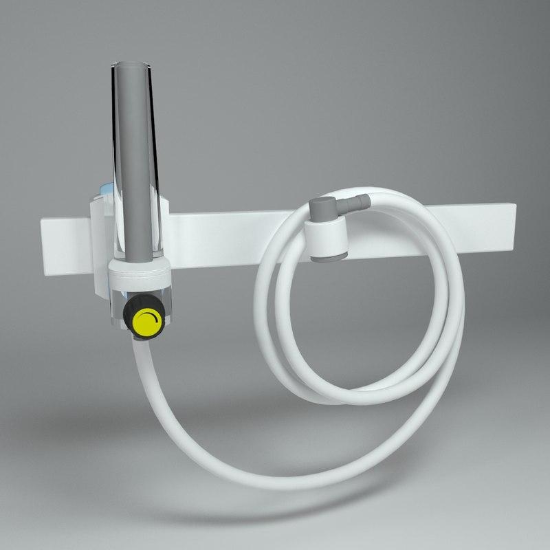 oxygen flowmeter meter 3d max