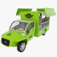 kim fly food truck 3d model