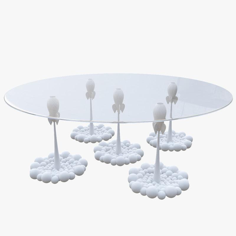 table modelled 3d model