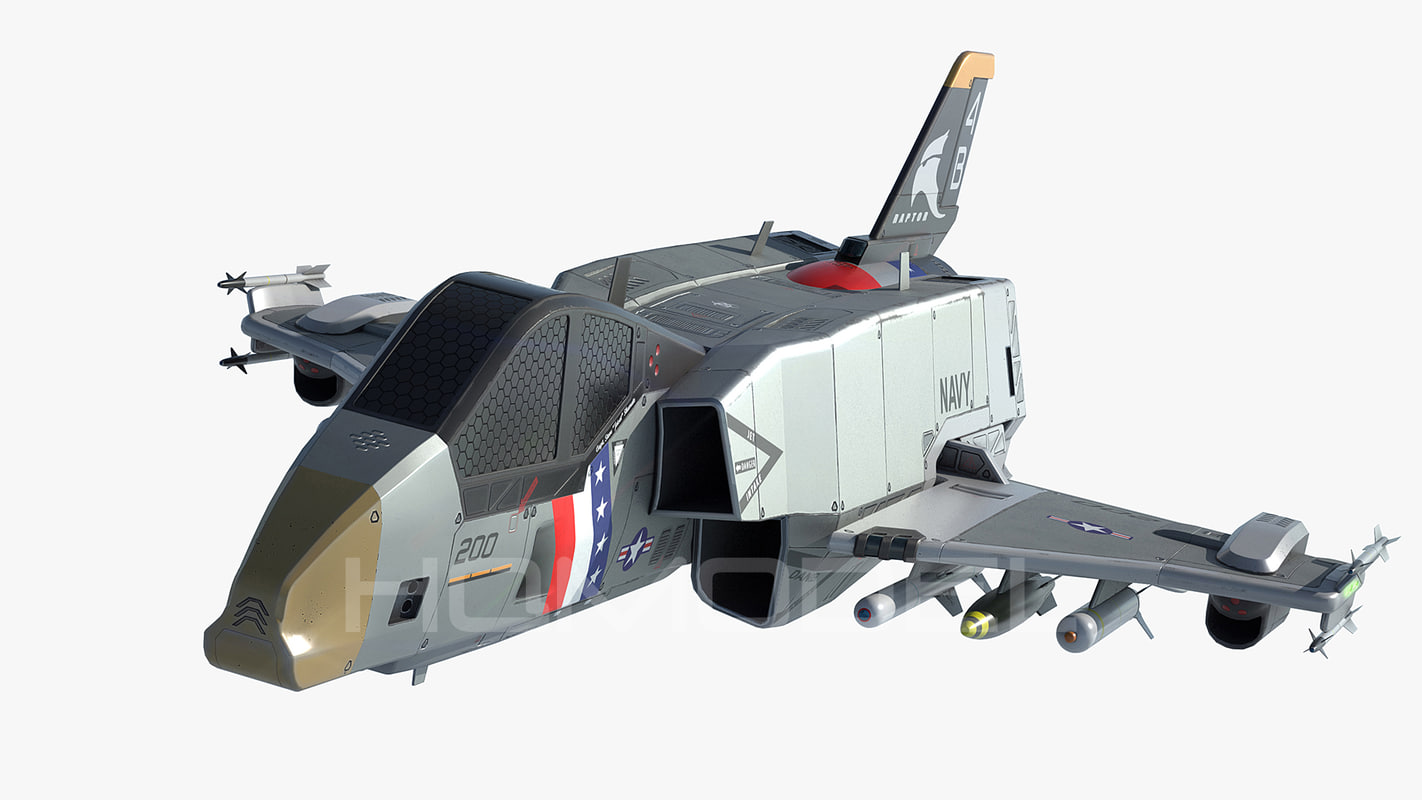 3d model starfighter usa pbr