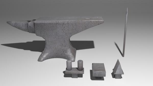 anvil blacksmith metal 3d model