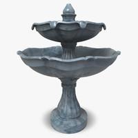 3d model classic fountain