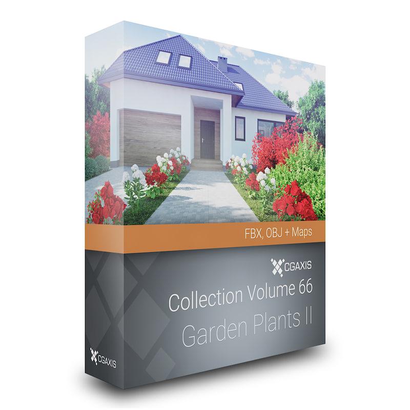 volume 66 garden plants 3d model