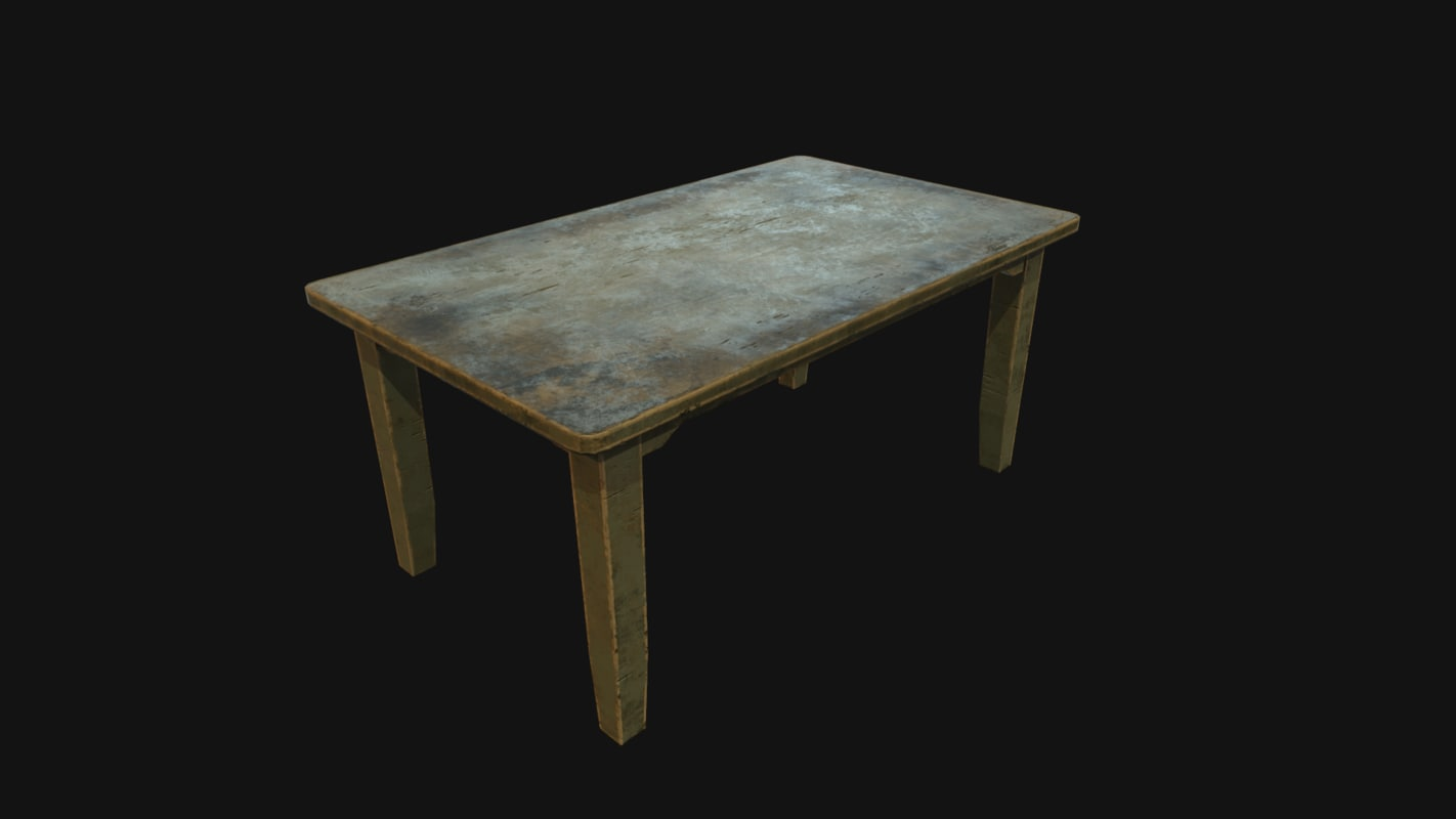 3d model of old table