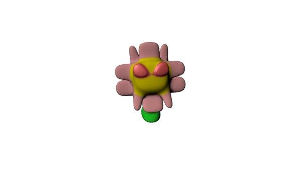 flower monster fbx free