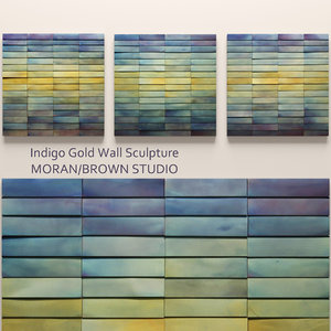 indigo gold wall sculpture 3d model