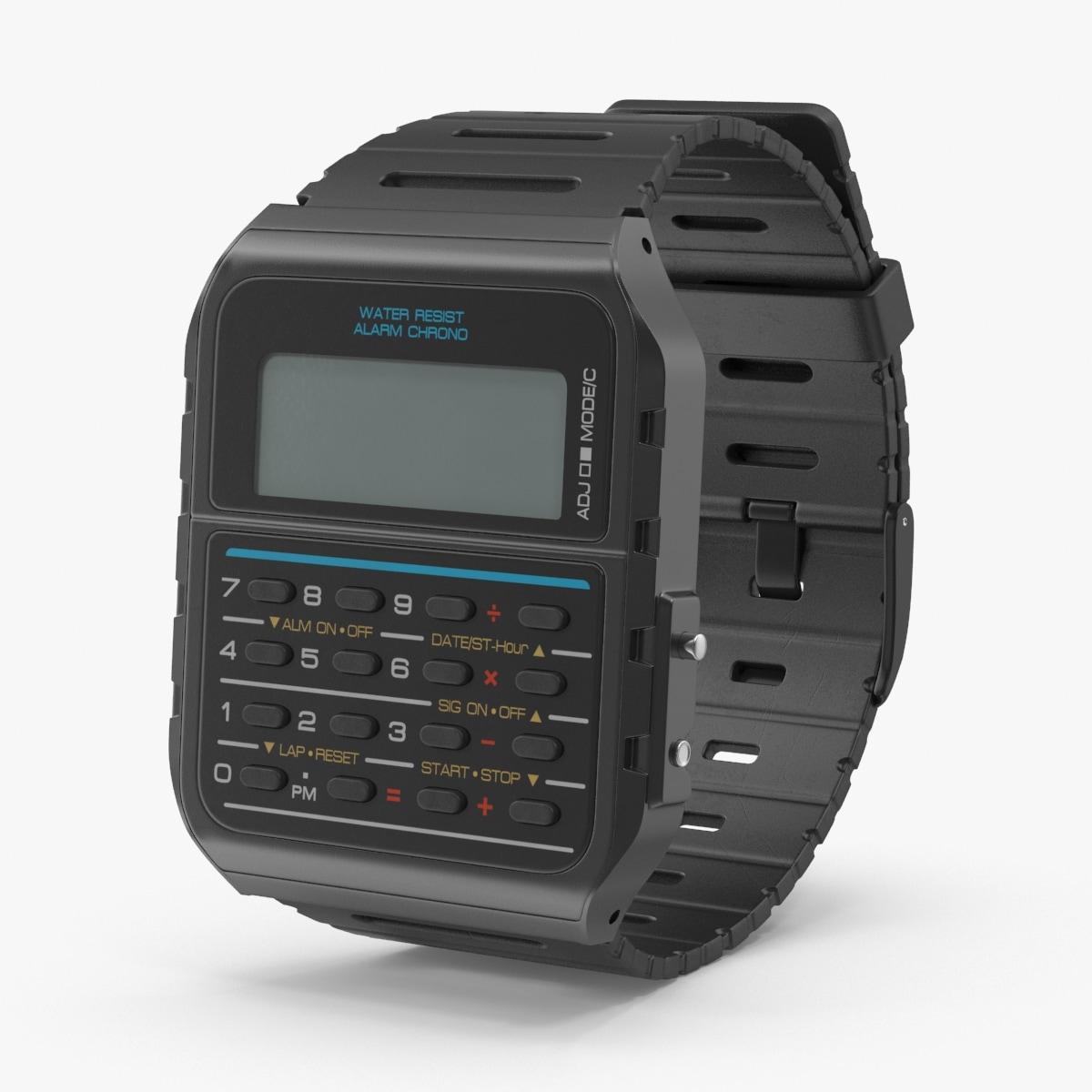 3d calculator watch model