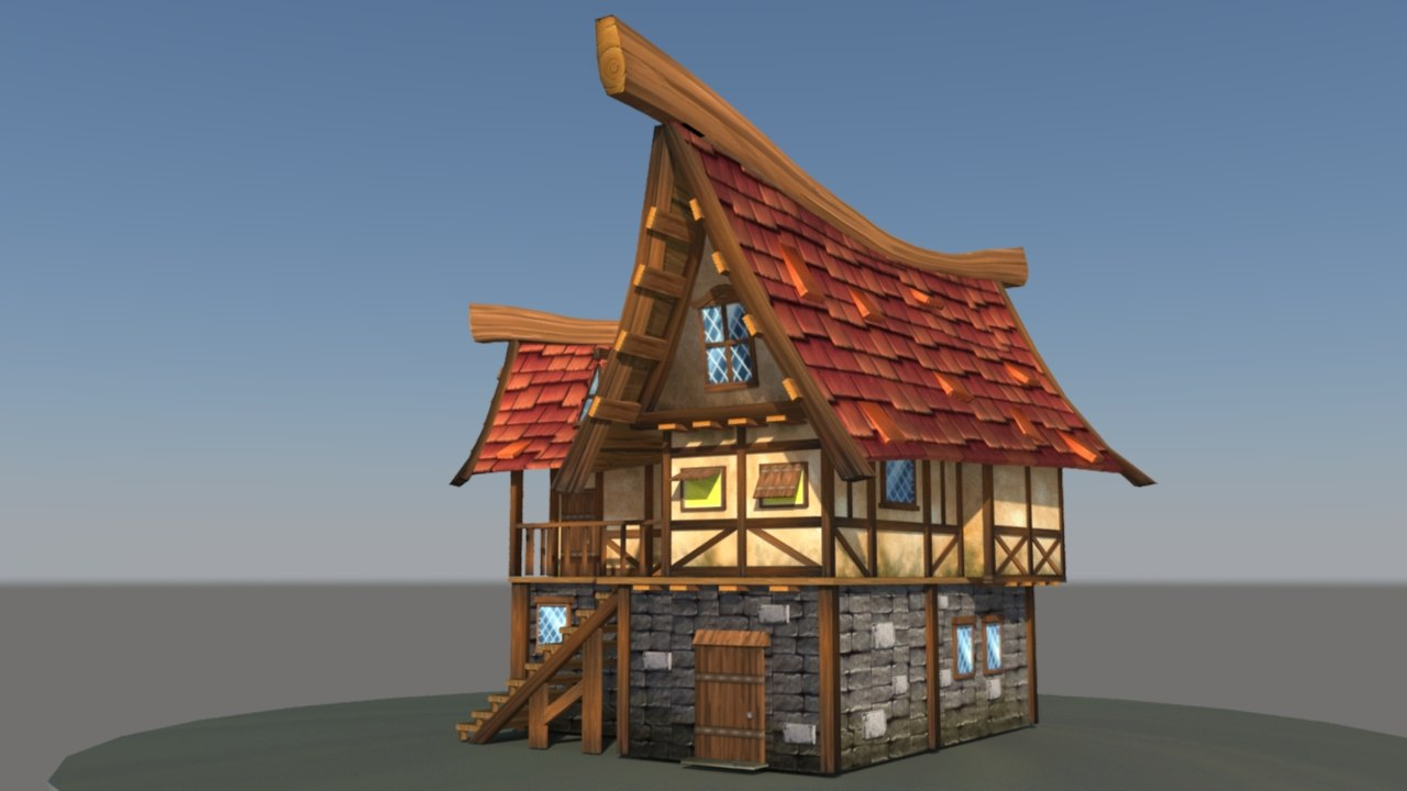 3d casual cottage