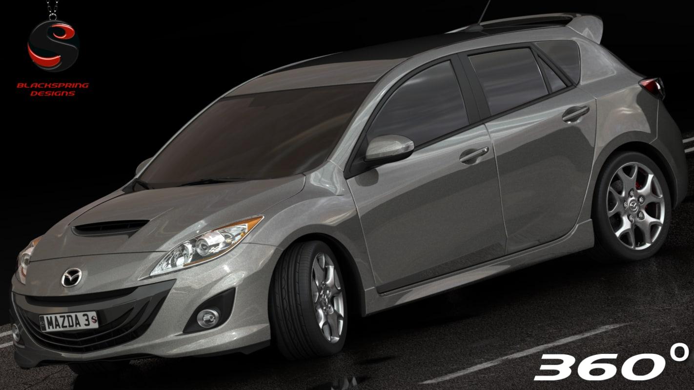 3d model mazda 3 2010 interior