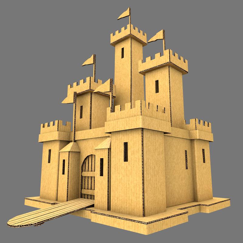 cardboard castle dxf