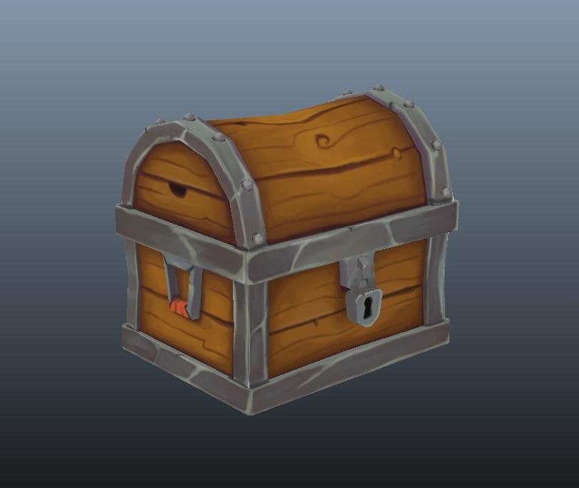 treasure chest polys obj
