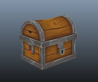 treasure chest polys obj