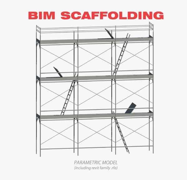3d scaffolding bim model